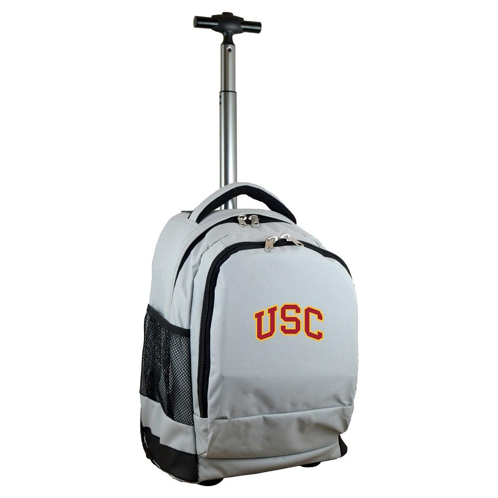 NCAA Usc Trojans Gray Premium Wheeled Backpack