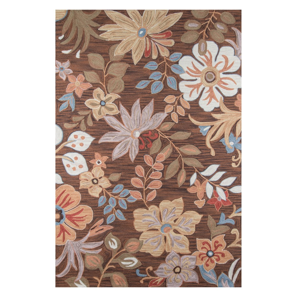 5'X7'6 Floral Hooked Area Rug Brown - Momeni