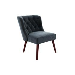 Vintage Tufted Accent Chair Blue - Novogratz