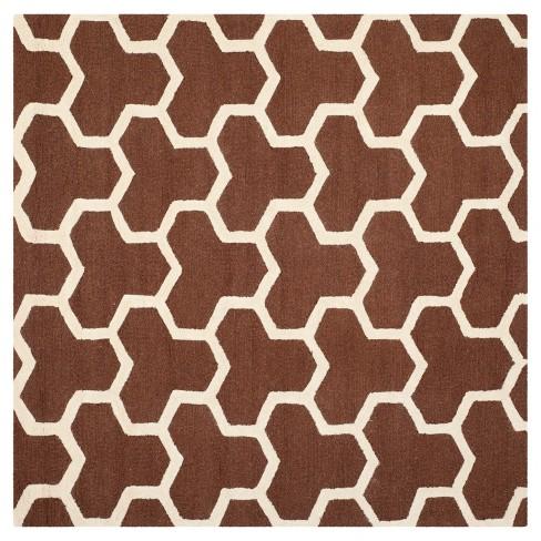 Delmont Area Rug - Dark Brown / Ivory ( 8' X 8' ) - Safavieh® - image 1 of 2