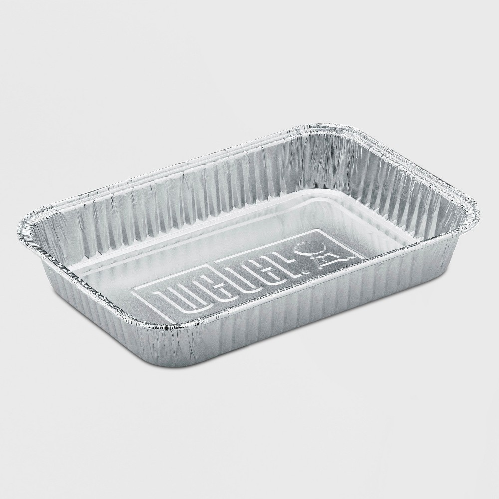 Weber Drip Pans- Small, Silver 49165420