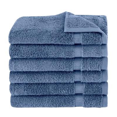 6pc Villa Hand Towel Set Blue - Royal Turkish Towels