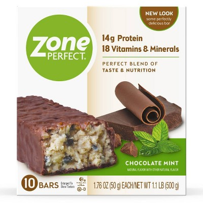 ZonePerfect Protein Bar Chocolate Mint - 10 ct/17.6oz