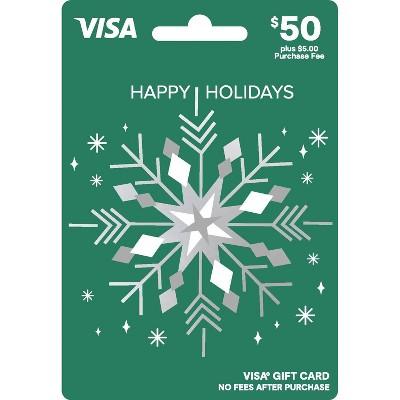 Visa Holiday Gift Card - $50 + $5 Fee