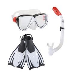 Speedo Adult Hydroscope MSF Snorkel Set L/XL - Black/Clear