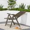 Renaissance Outdoor Patio Hand-Scraped Wood 5-Position Reclining Chair - image 4 of 4