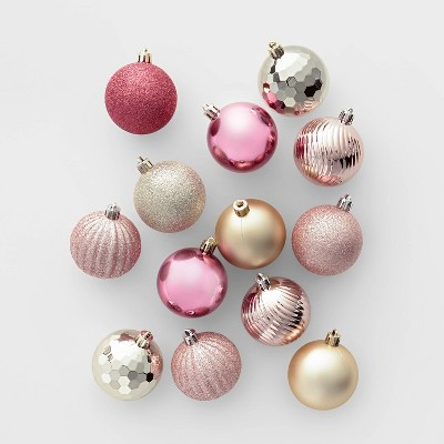100ct Christmas Ornament Set Champagne Blush And Dusty Rose Wondershop Target Inventory Checker Brickseek