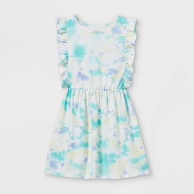 Girls' Tie-Dye Flutter Sleeve Knit Dress - Cat & Jack™