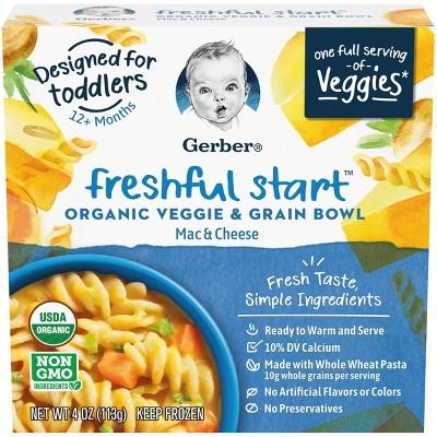 Gerber Freshful Start Frozen organic Veggie and Grain Bowl Mac & Cheese - 4oz