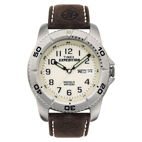 Men's Timex Expedition® Watch with Leather Strap - Silver/Brown T466819J - image 1 of 1