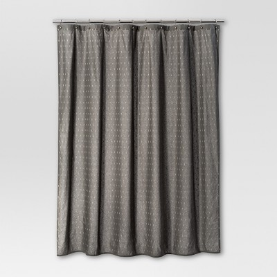 Geometric Shower Curtain Radiant Gray - Threshold™