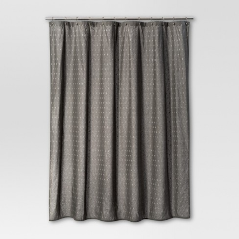 Geometric Shower Curtain Radiant Gray