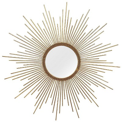 "26"" Andrea Wall Mirror Gold - Stratton Home Décor"