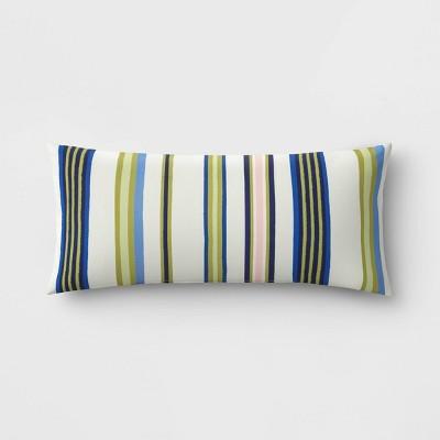 Decorative Rectangular Throw Pillow - Green Multistripe - Threshold™