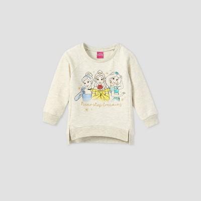 Toddler Girls' Disney Princess Fleece Pullover - Beige
