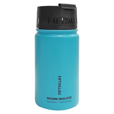 FIFTY/FIFTY® 12 oz Bottle With Flip Top Lid - Aqua