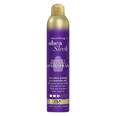 Hair Spray: OGX Shea Sleek Humidity Blocking Hairspray