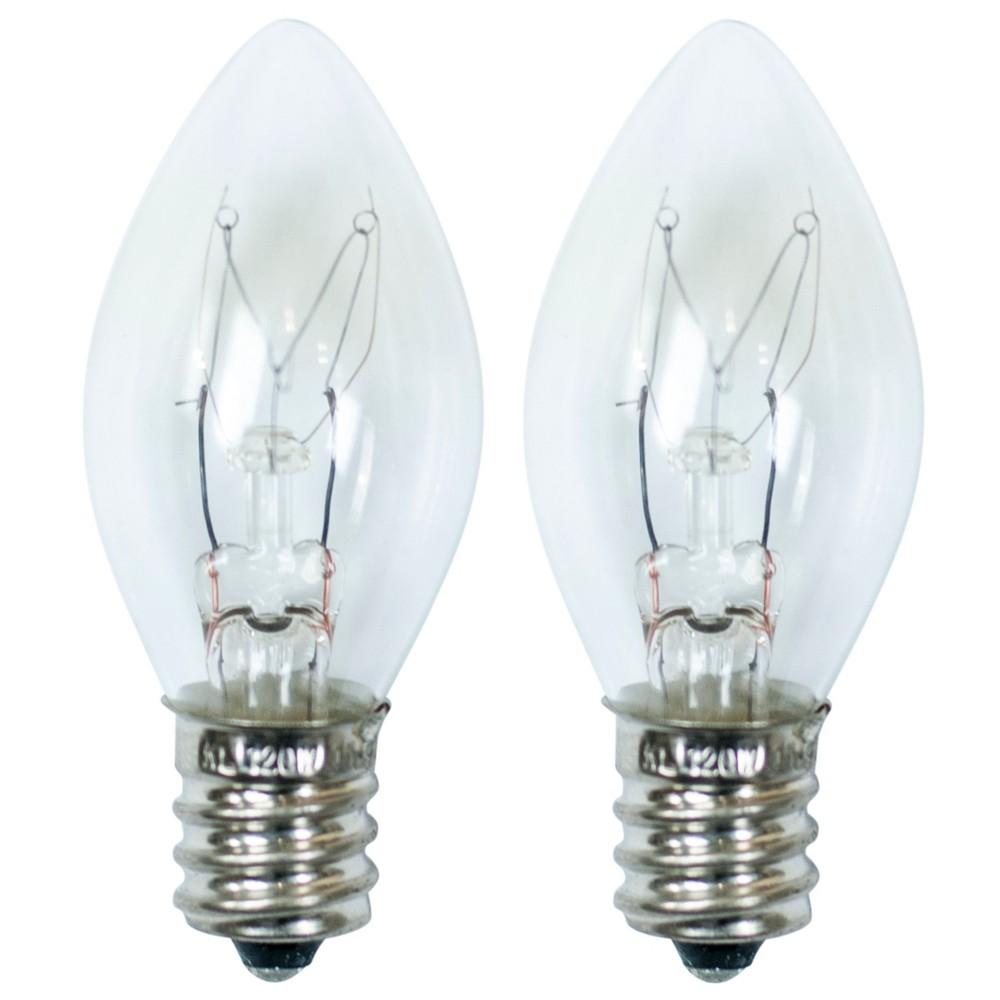 Image of 15-Watt 2pk C7 Incandescent Light Bulbs for Wax Warmers Clear - Ador