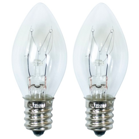 15-Watt 2pk C7 Incandescent Light Bulbs for Wax Warmers Clear - ADOR - image 1 of 1