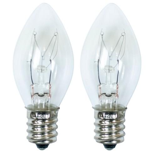 15-Watt 2pk C7 Incandescent Light Bulbs for Wax Warmers Clear - ADOR - image 1 of 1