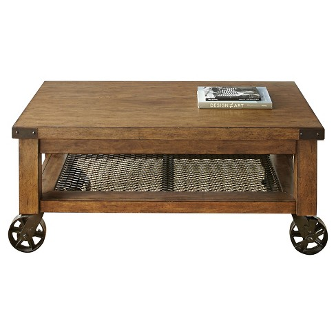 Hailee Cocktail Table Oak - Steve Silver - image 1 of 3