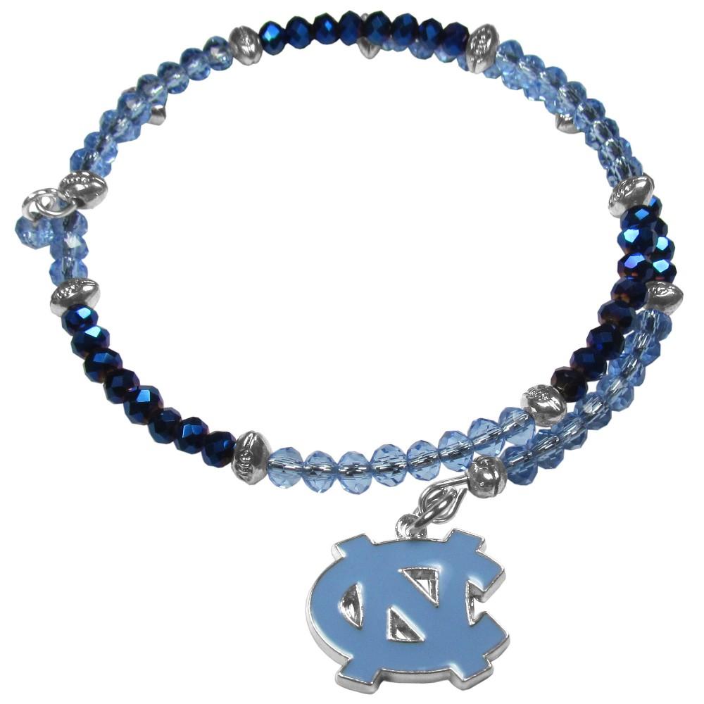 North Carolina Tar Heels Memory Wire Crystal Bracelet