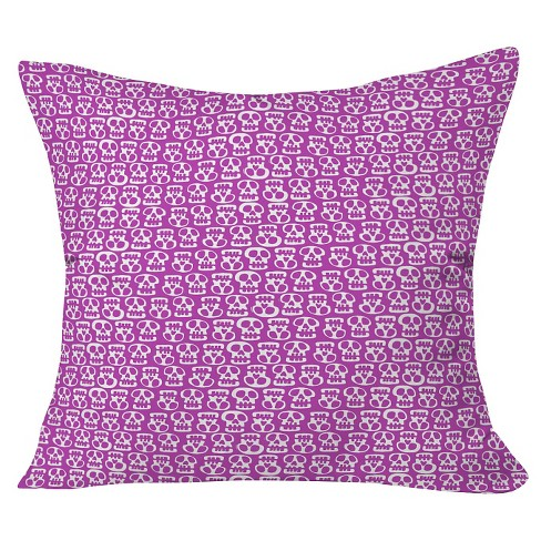 "Purple Aimee St Hill Skulls Throw Pillow (20""x20"") - Deny Designs® - image 1 of 3"