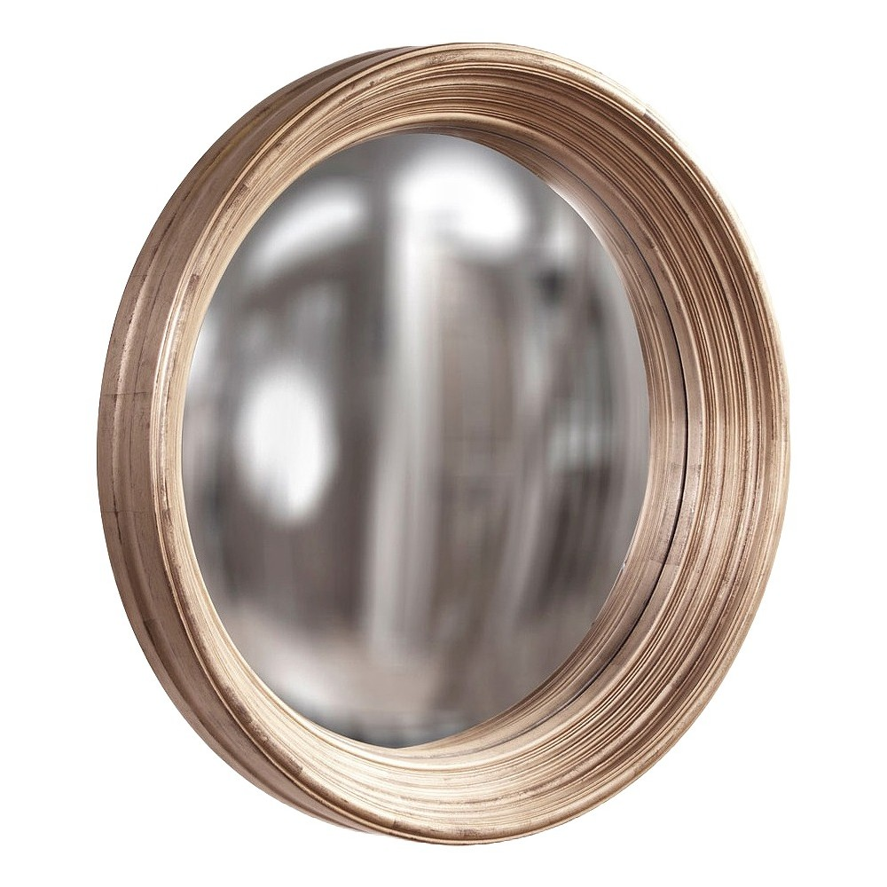 Round Howard Elliot Large Silas Decorative Wall Mirror Silver - Howard Elliott, Light Silver
