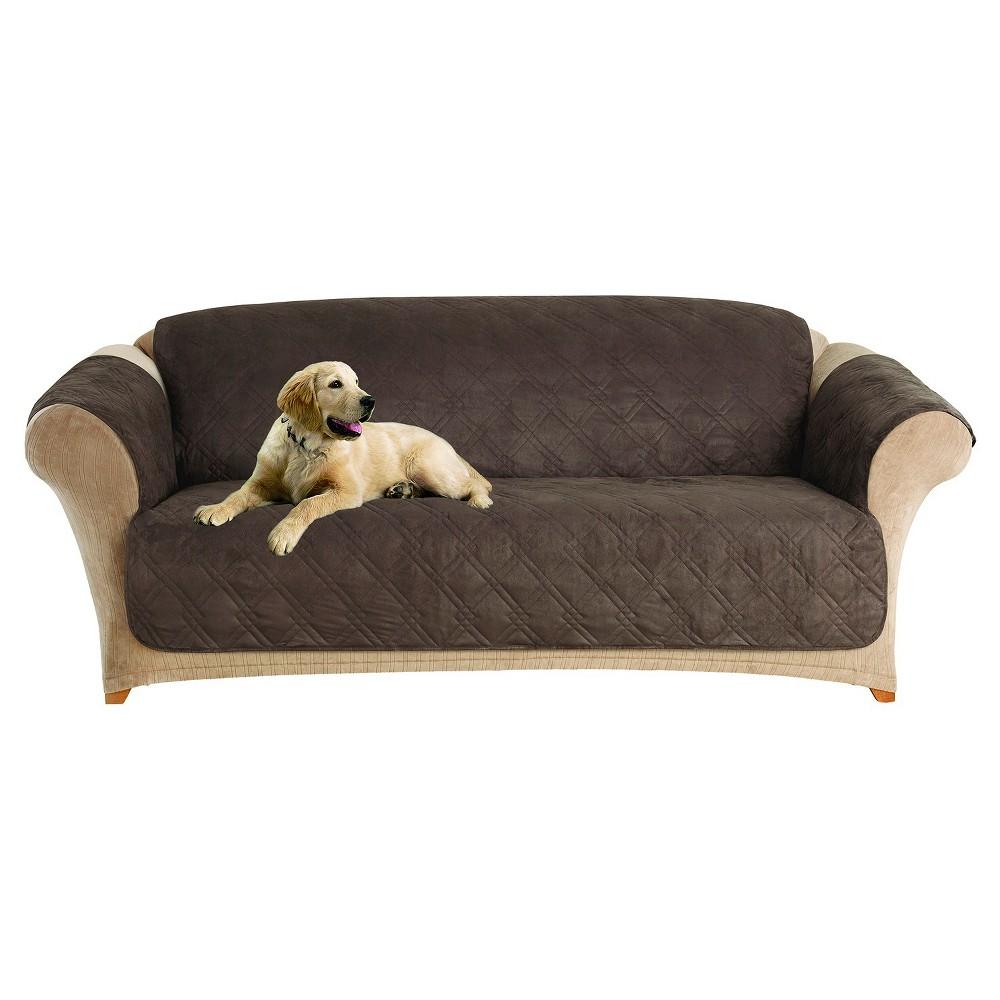 Furniture Friend Microfiber Non-Skid Sofa Furniture Protector Chocolate (Brown) - Sure Fit