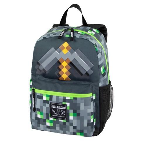 "Minecraft 17"" Emerald Sword Backpack - Gray/Green - image 1 of 8"