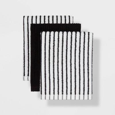 3pk Cotton Bar Mops Black - Room Essentials™