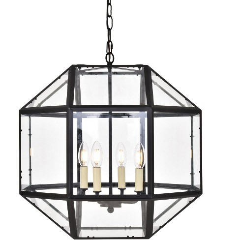 "Elegant Lighting LD6001D19 Caro 4 Light 19"" Wide Taper Candle Pendant - image 1 of 4"