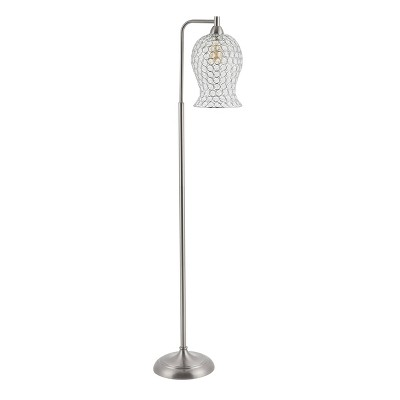 Izzy Iron Floor Lamp (Includes LED Light Bulb) Nickel - Safavieh