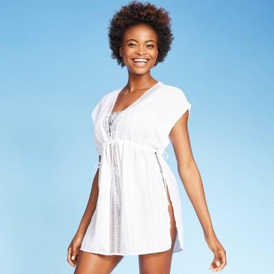 Women's Open Side Tunic Cover Up Dress - Xhilaration™ White M