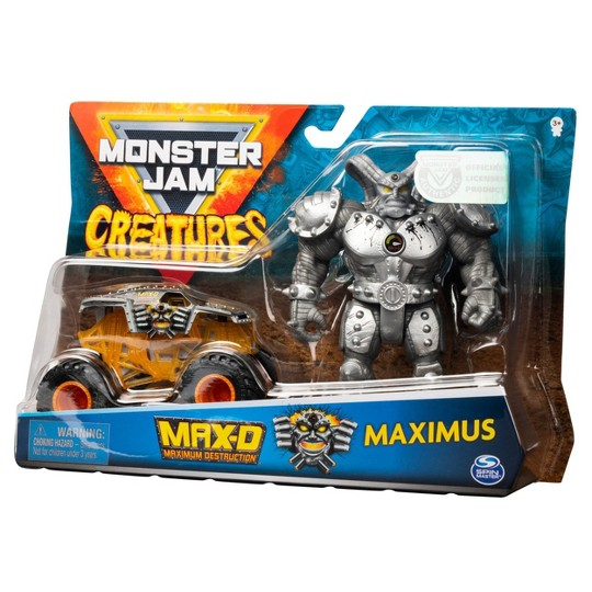 Monster Jam 1:64 Diecast + Creature Fig - Max D image number null