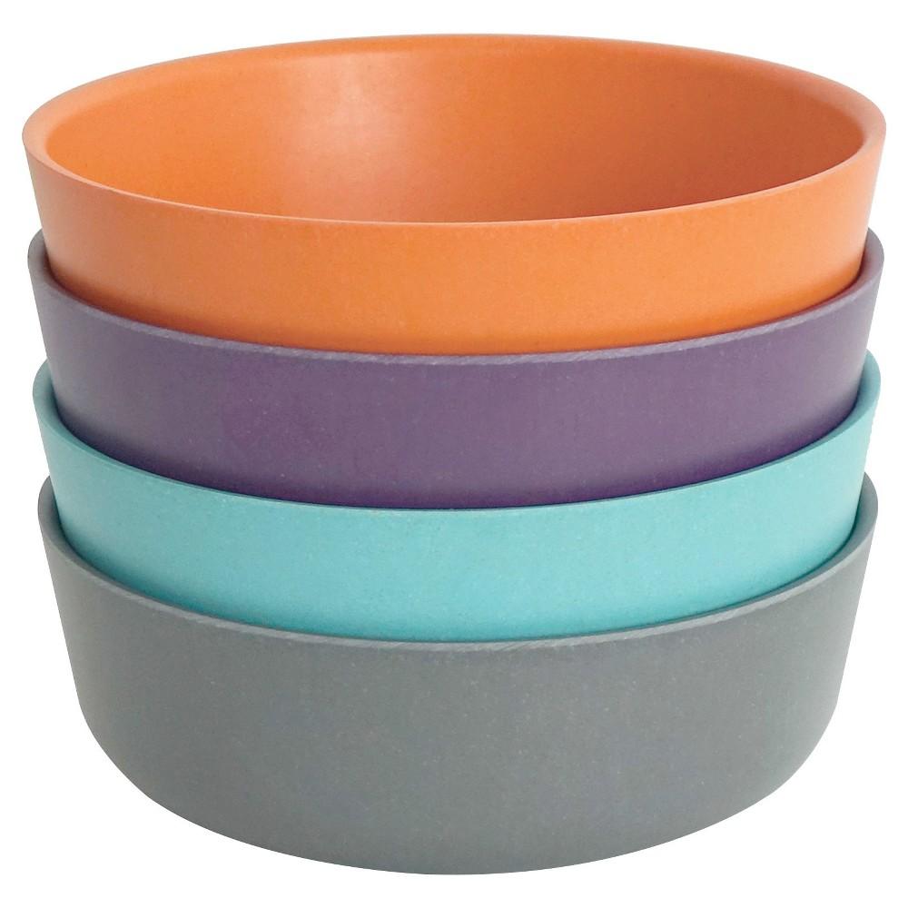 Image of Biobu by Ekobo Bambino 20oz Bowls - Set of 4, Purple Blue