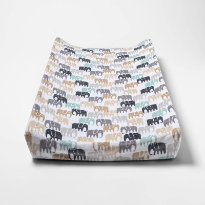 Changing Pad Cover Elephants - Cloud Island™ Gray