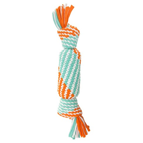 Rope Squeaker Tube Pet Toy - 12'' - Blue - Boots & Barkley™ - image 1 of 1