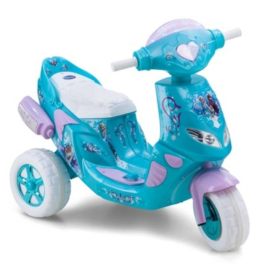 Kid Trax 6V Disney Frozen Twinkling Lights Scooter Powered Ride-On - Blue