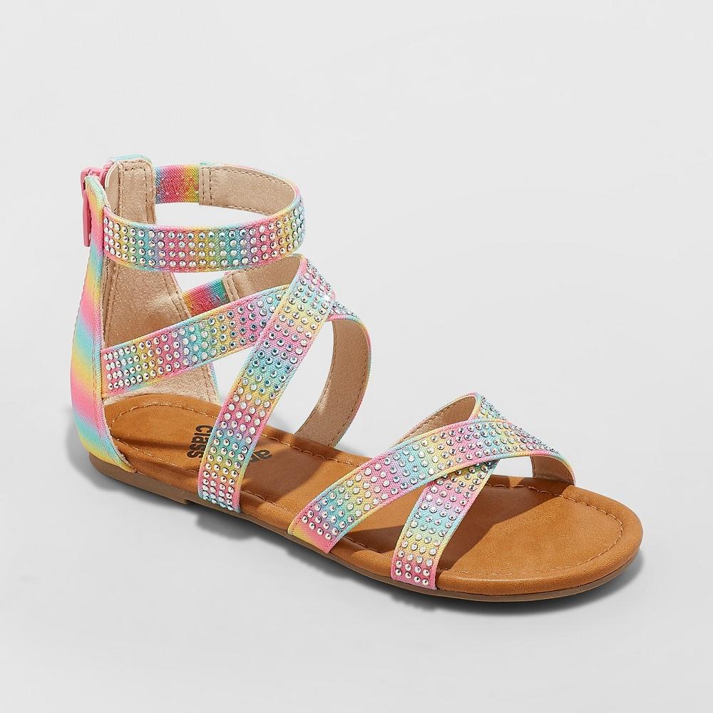 Girls' Janeane Embellished Gladiator Sandals - art class Pink 13