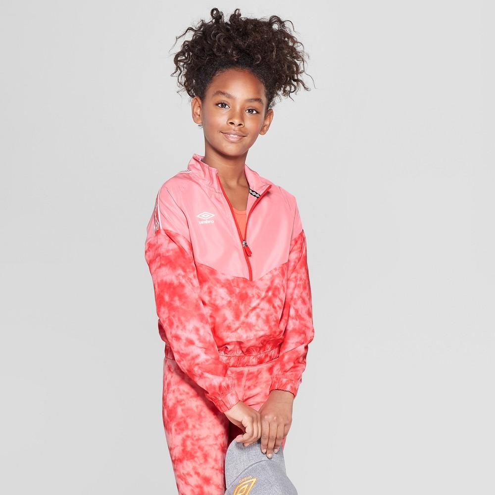 Umbro Girls' Tie Dye Windbreaker - Geranium Pink S