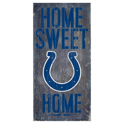NFL Indianapolis Colts Fan Creations Sweet Home Sign