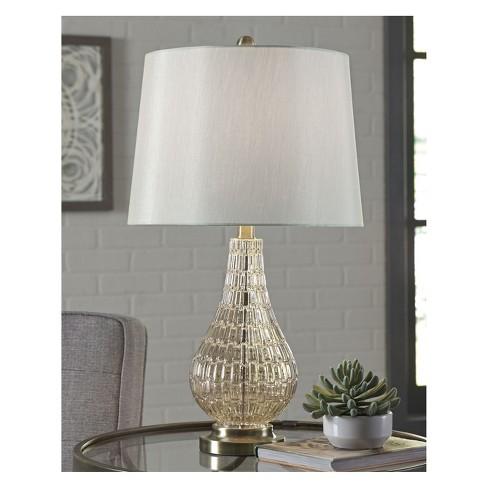 Latoya Glass Table Lamp Gold Shimmer Lamp Only Signature Design