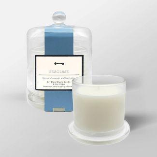 8.2oz Cloche Glass Jar Candle Seaglass - Threshold™