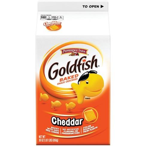 pepperidge farm goldfish cheddar crackers 30oz carton target