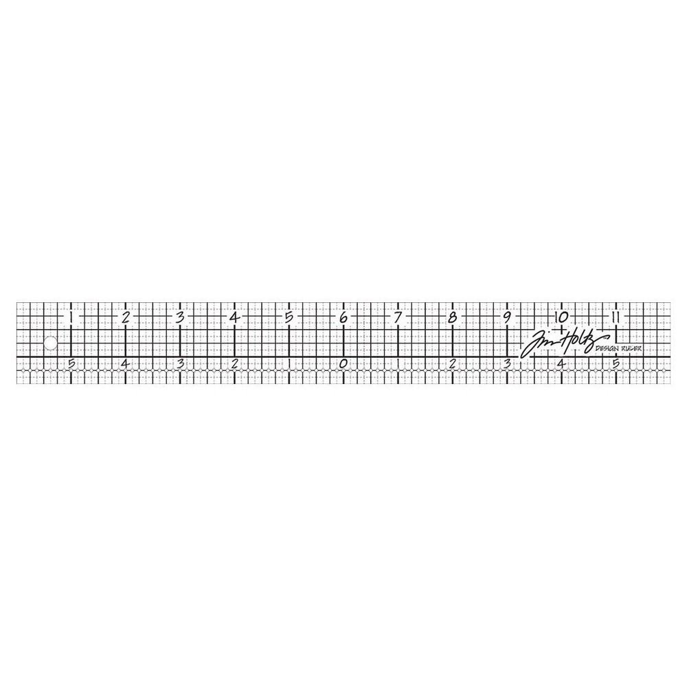 Tim Holtz Acrylic Design Ruler-Clear 12, Clear