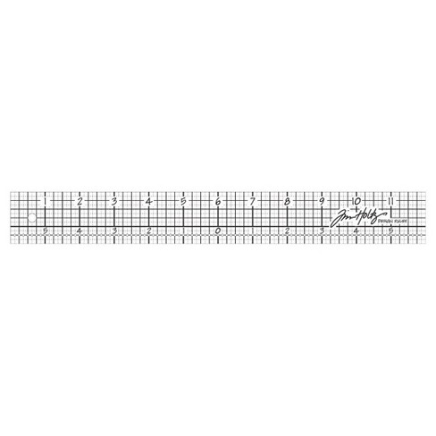 "Tim Holtz Acrylic Design Ruler-Clear 12"" - image 1 of 1"