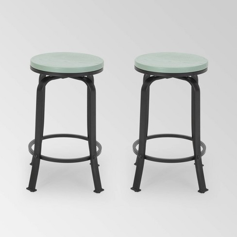 Set of 2 Skyla Modern Industrial Swivel Counter Stool - Christopher Knight Home - image 1 of 4