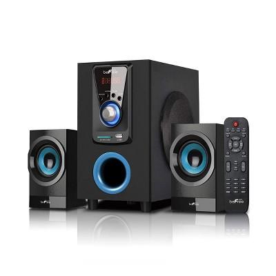 beFree Sound 2.1 Channel Bluetooth Surround Sound Speaker System in Blue