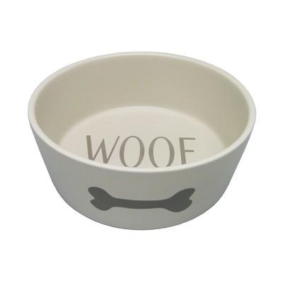 Icon Ceramic Cat and Dog Bowl - Cream - Large - Boots & Barkley™